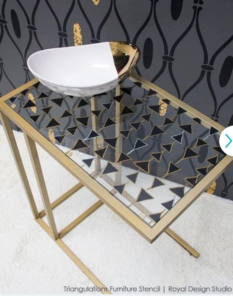 Переделка столика под ноутбук IKEA  VITTSJÖ из обычного в гламурный.
